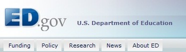 Screenshot of U.S. Department of Education