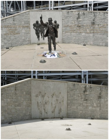 (Reuters Pictures) Penn state leaders believe that the statue was the