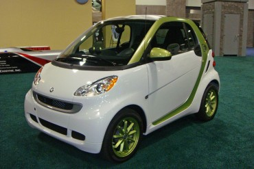 An electric car in Washington Auto show