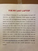 Rutgers Student Asks Thief to Keep His Stolen Laptop; Requests Return Of  Research Data