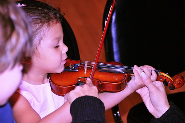 Music lessons during childhood improve hearing in old age.