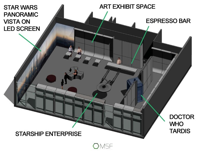 Architecure's rendering of the preview museum.