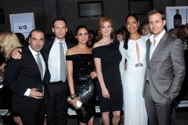The entire cast of suits