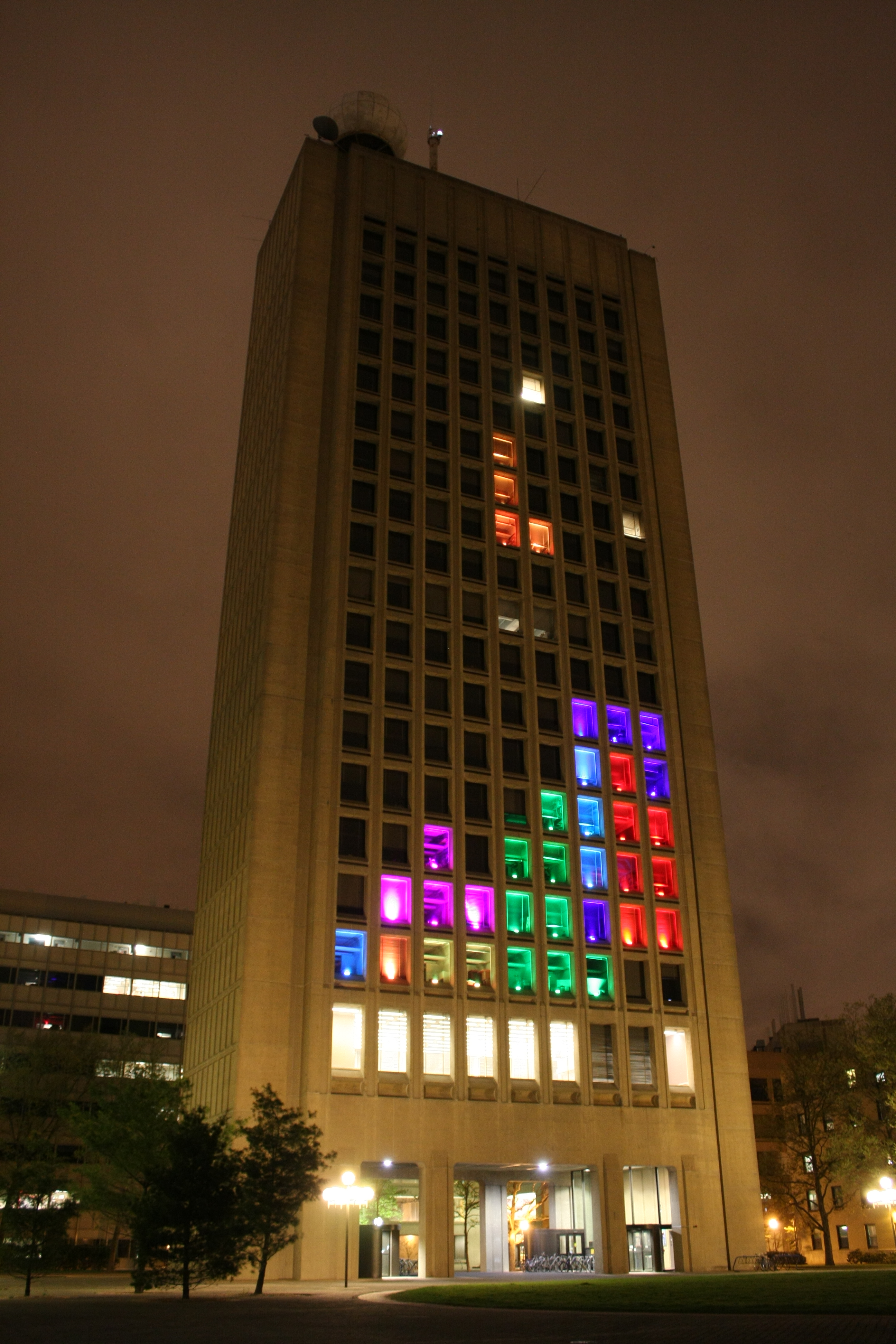 tetris game on 29 story building trending news university herald