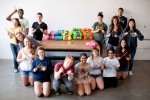 U-M: Knitting installation in the heart of campus changes space, mood
