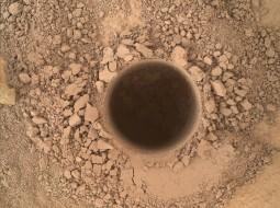 Mount Sharp Drilling Hole