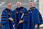 Emory president receives honorary degree from Notre Dame