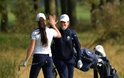 Duke University freshman Virginia Elena Carta led the Blue Devil women's golf team hitch into a tie for second place at the NCAA Championship 2016.