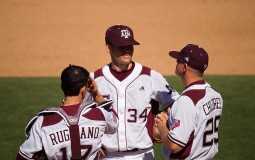 Bouncing back from a Game 1 drubbing, the Texas A&M Aggies trounced the Texas Christian University (TCU) Horned Frogs 7-1 in Game 2 of the NCAA Super Regional Baseball Tournament on June 11, Saturday.