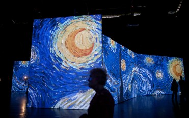 """California Institute of Technology (Caltech) scientists creates a new masterpiece out of Van Gogh classic """"Starry Night""""."""
