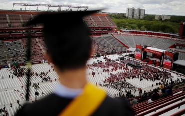 Obama Delivers Commencement Address At Rutgers University