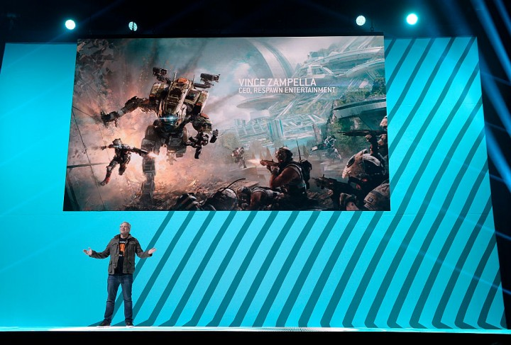 Vince Zampella, CEO of Respawn Entertainment, introduces the video game 'Titanfall 2'