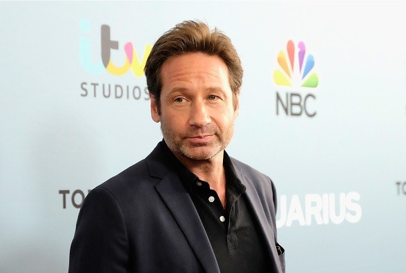 Actor David Duchovny arrives at the Premiere of NBC's 'Aquarius' Season 2