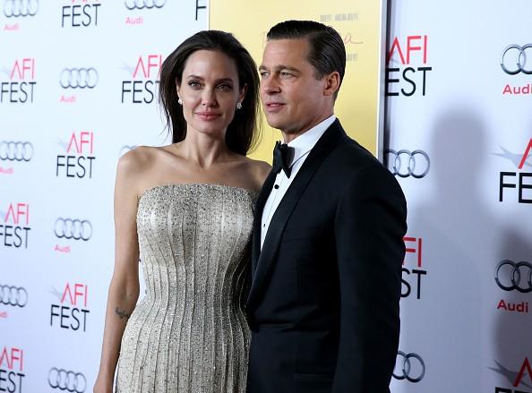 Angelina Jolie and Brad Pitt, divorced.
