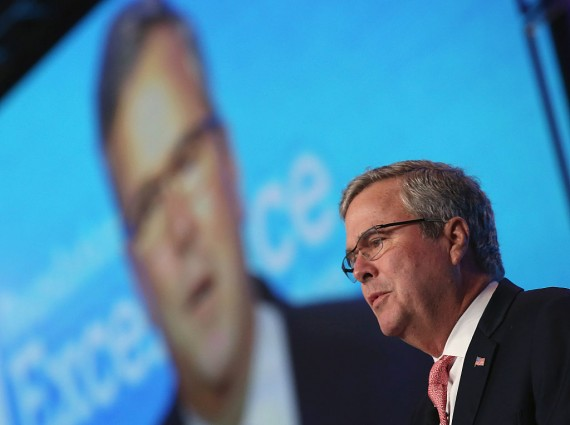 Jeb Bush Delivers Keynote Address At DC Education Summit