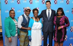 Citi Hosts A 'Breakfast Party' celebrating the Harlem EatUp! At East Harlem Scholars Academies With Harlem EatUp! Co-founder Marcus Samuelsson, Bravo Host Bevy Smith And Food Business Pathways Graduate Jaynine Taylor