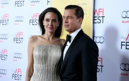 : Writer-director-producer-actress Angelina Jolie Pitt (L) and actor-producer Brad Pitt attend Audi at the opening night gala premiere of 'By the Sea'