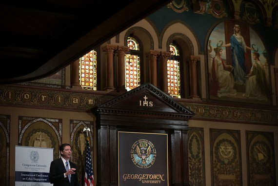FBI Director James Comey At Georgetown University