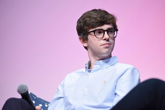 Actor Freddie Highmore speaks at the 'Bates Motel' event during aTVfest 2016 presented by SCAD on February 6, 2016 in Atlanta, Georgia