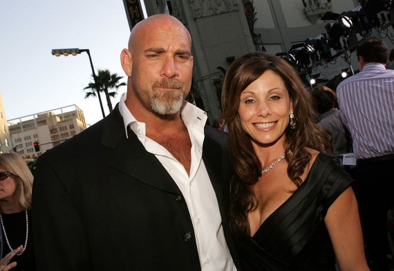 Wrestler Bill Goldberg and his wife Wanda.