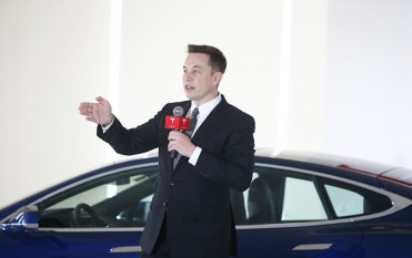 Elon Musk, Chairman, CEO and Product Architect of Tesla Motors, addresses a press conference to declare that the Tesla Motors releases