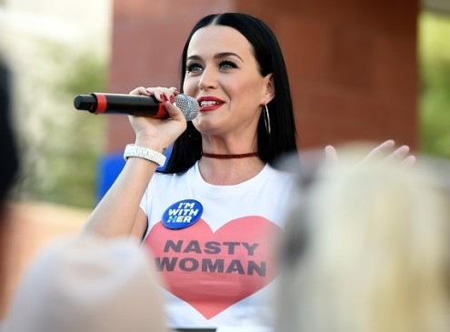 Katy Perry Visits University Of Nevada To Campaign For Hillary Clinton