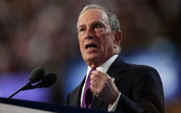 Former New York City Mayor Michael Bloomberg delivers remarks on the third day of the Democratic National Convention