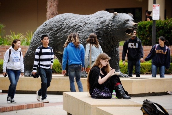 College students on campus at UCLA