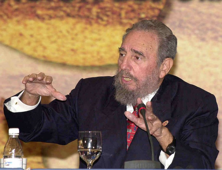 Fidel Castro at the ACS Summit Closing Ceremony