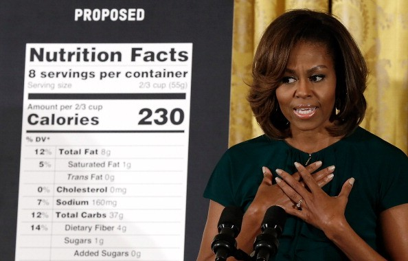 Michelle Obama Discusses Healthier Choices For Consumers At White House Event