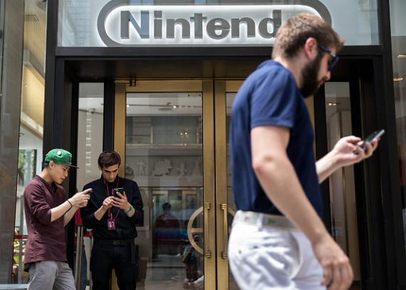 Popularity Of Nintendo's New Augmented Reality Game Pokemon Go Drives Company Stock Up