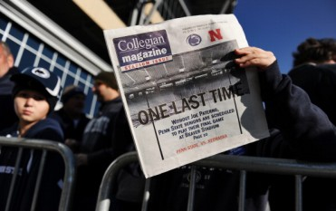 College newspaper read by a student