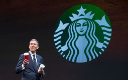 SEATTLE, WA - MARCH 23: Starbucks CEO Howard Schultz speaks about the Christmas cup controversy during the Starbucks Annual Shareholders Meeting on March 23, 2016 in Seattle, Washington.