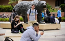 Students inside the UCLA campus