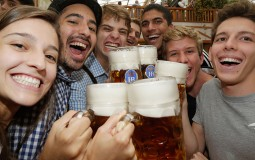 Friends enjoying beer drinking