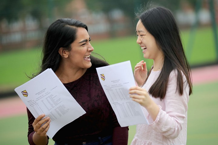 Students receive their examination results