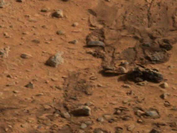 Marks made by NASA's Mars Exploration Rover, Spirit