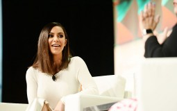Kim Kardashian West speaks during the #BlogHer16 Experts Among Us conference