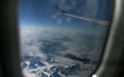 A view of East Greenlnd icecap before it reaches its destination