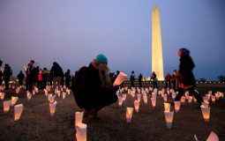 Activists Hold Rally At Washington Monument To Protest Trump Travel Ban