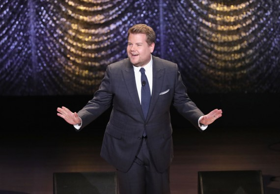 Gala host James Corden performs onstage during Lincoln Center's American Songbook Gala