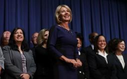 Newly confirmed Education Secretary Betsy DeVos