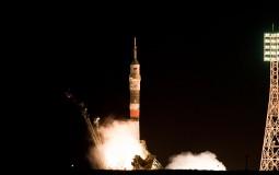 ESA astronaut Thomas Pesquet, NASA astronaut Peggy Whitson and Roscosmos commander Oleg Novitsky were launched to the International Space Station