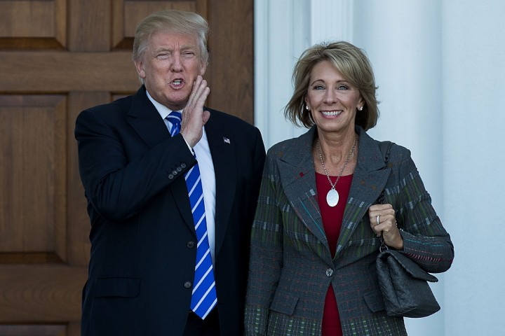 Education Secretary Betsy DeVos delivers sharp criticism to professors
