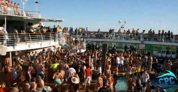 College spring break cruise party