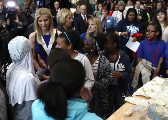 Ivanka Trump And DeVos Encourage Women To Purseue STEM With 'Hidden Figures' [VIDEO]