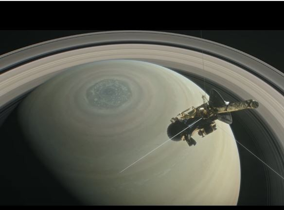 Cassini's dance on Saturn's rings before it aims for the planet