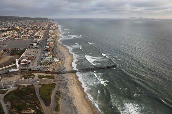 Aerial View of US-Mexico Border