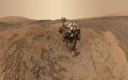 Curiosity Mars Rover Exploring Mars Surface